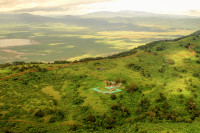 Rhino Lodge is situated a few hundred metres from the Crater Rim
