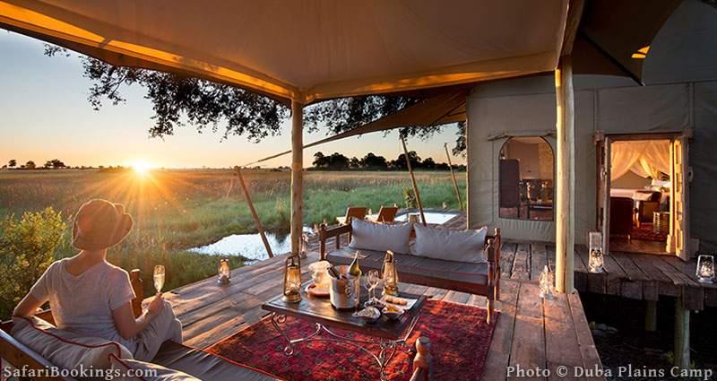 Duba Plains Camp is one of the Best Botswana Safari Camps