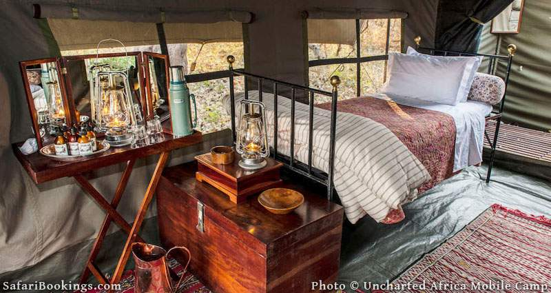 Uncharted Africa Mobile Camp is one of the Best Botswana Safari Camps
