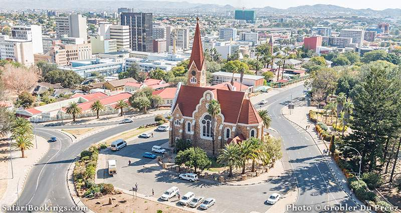 Safe place to visit in Africa: Windhoek