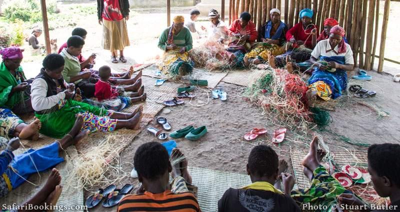 Batwa basket weaving group