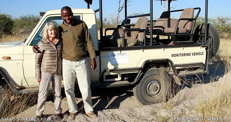 Me and rhino monitor Michael