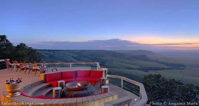 Angama Mara Lodge, Masai Mara Game Reserve in Kenya