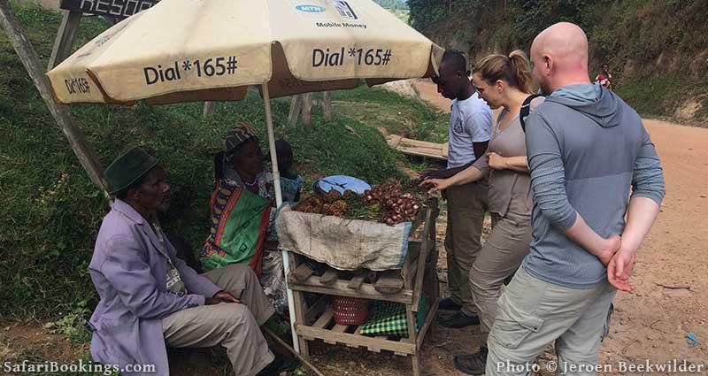 Street seller in Uganda