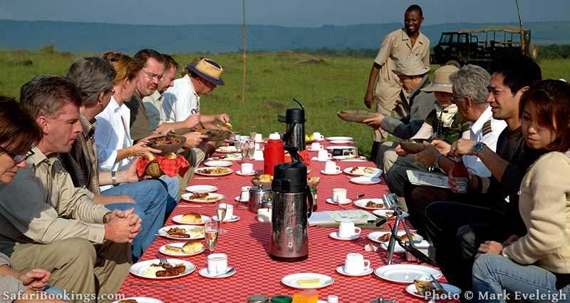 Communal Dining Table on an African Safari