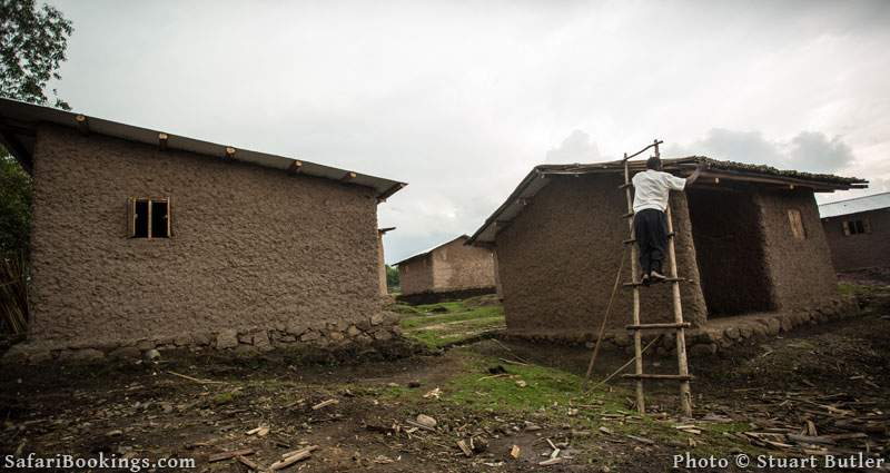 project of building the Batwa proper houses on land