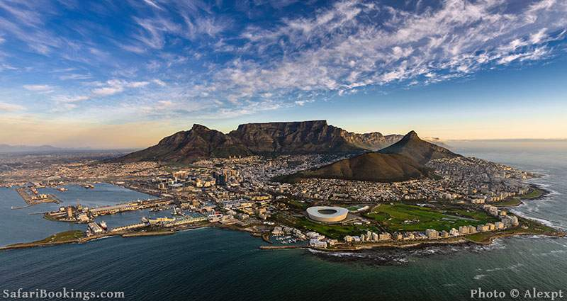 Table Mountain, Cape Town in South Africa