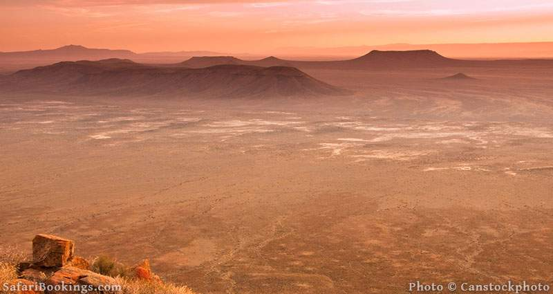 Scenic view of Karoo National Park in South Africa