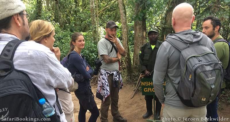 Briefing Mountain Gorilla trekking tour