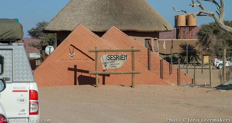 Sossusvlei park office in Sesriem, Namibia