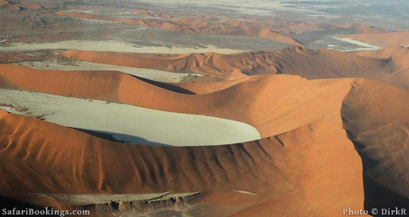 Aerial view of the Sossusvlei area