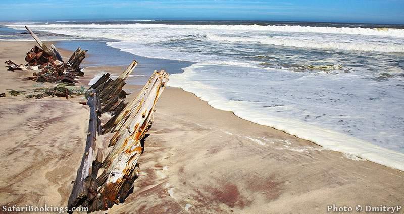 Ship remains in Skeleton Coast NationalPark