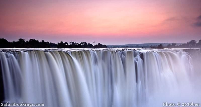 Sunrise over Victoria Falls, Zambia