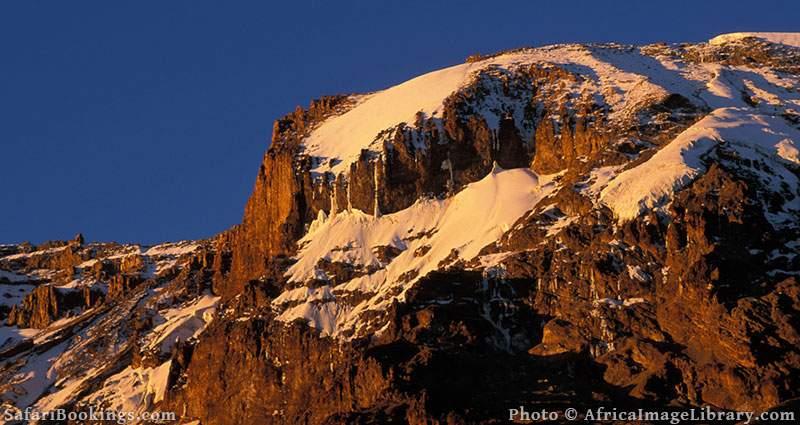 The Western Breach, snow-capped peak of Mount Kilimanjaro, Tanzania