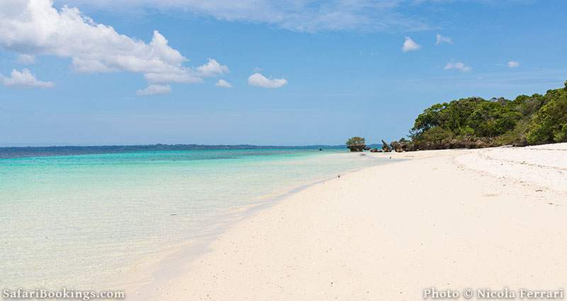 Pristine white sandy beach at Pemba Island, Tanzania