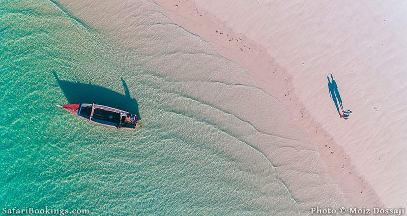Fisherman's dhow on Mafia Island, Tanzania