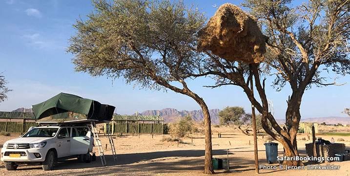 Sossus Oasis Campsite, Namib Naukluft National Park in Namibia