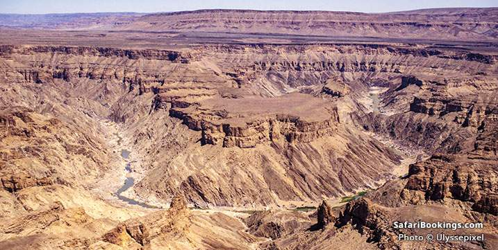 View over Fish River Canyon, Namibia