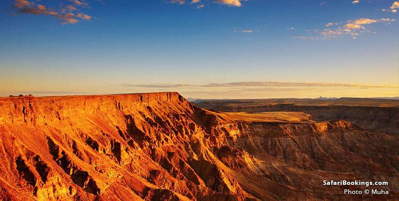Fish River Canyon glowing in late light