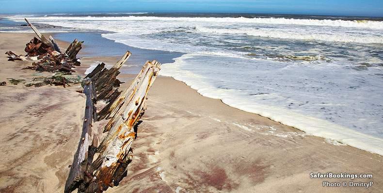 Ship remains at Skeleton Coast