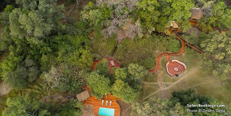 Camp Moremi Main Aerial