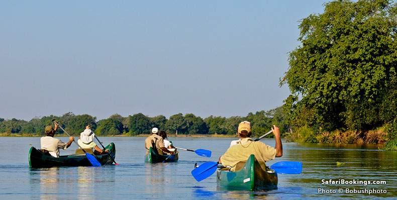 A canoe trip down the Zambezi River
