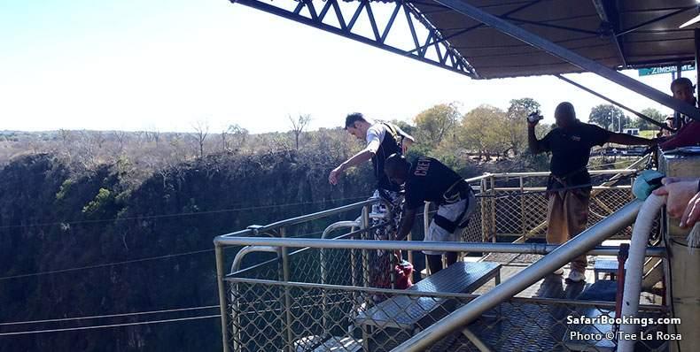 Victoria Falls Bungee Prep