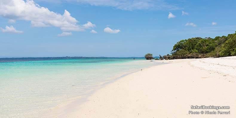 Pristine white sandy beach