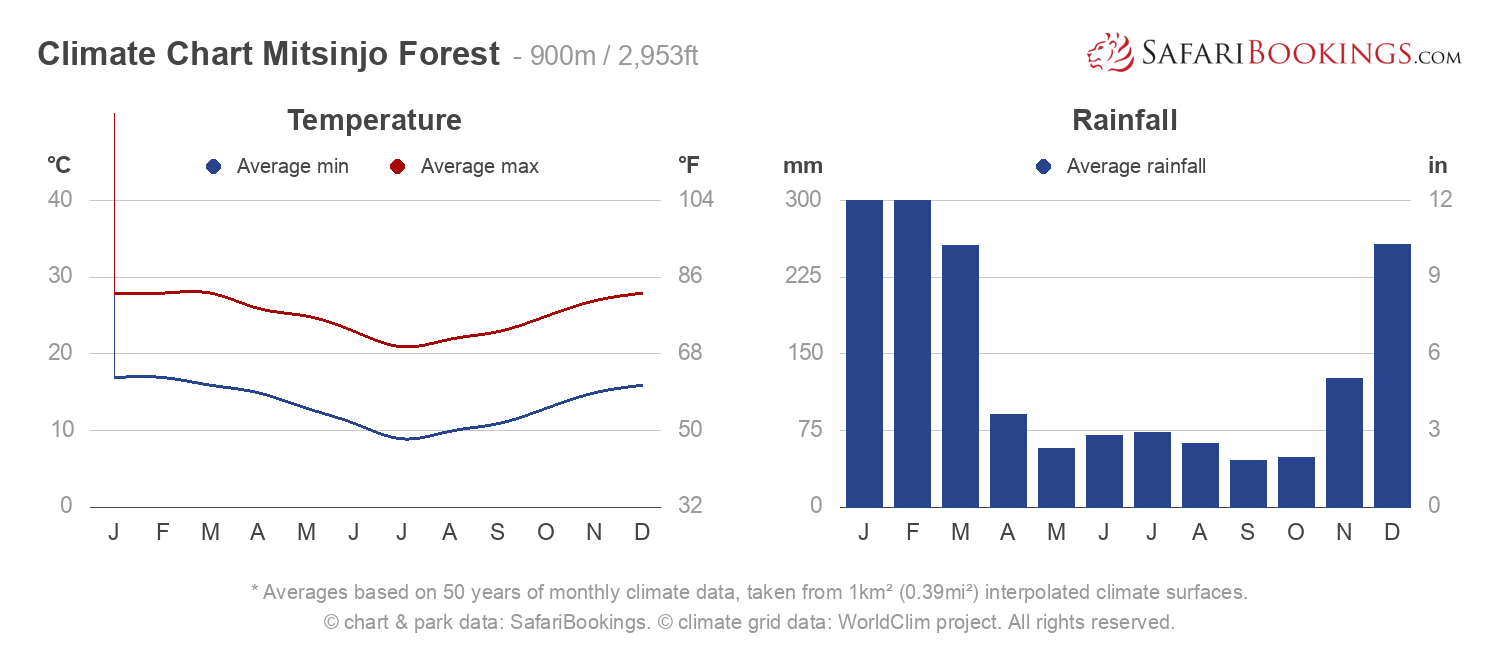 Climate Chart Mitsinjo Forest