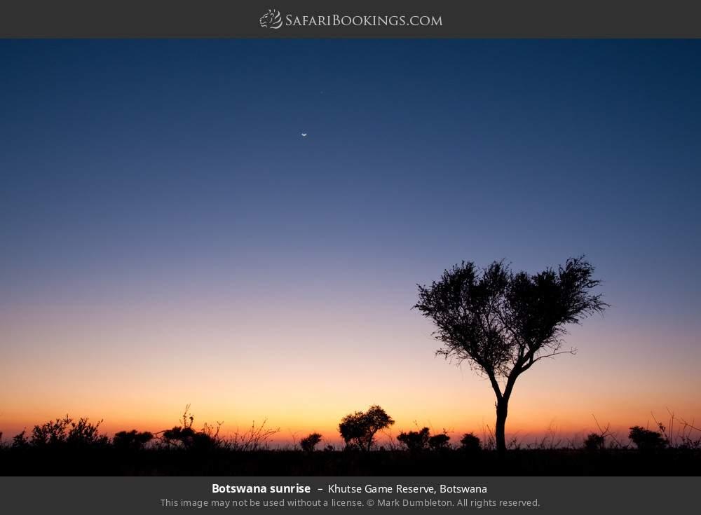 Botswana sunrise in Khutse Game Reserve, Botswana