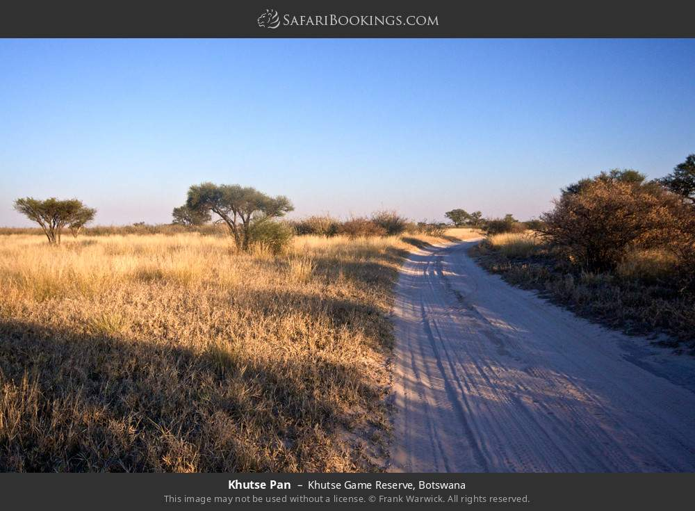 Khutse Pan in Khutse Game Reserve, Botswana