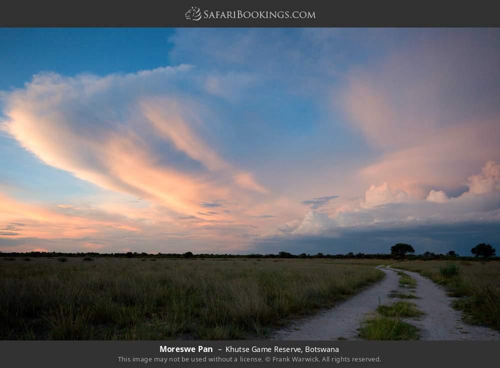Moreswe Pan in Khutse Game Reserve, Botswana