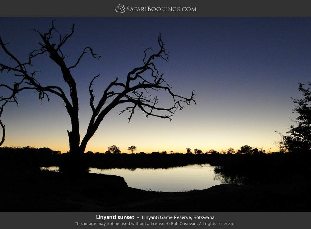 Linyanti sunset in Linyanti Game Reserve, Botswana