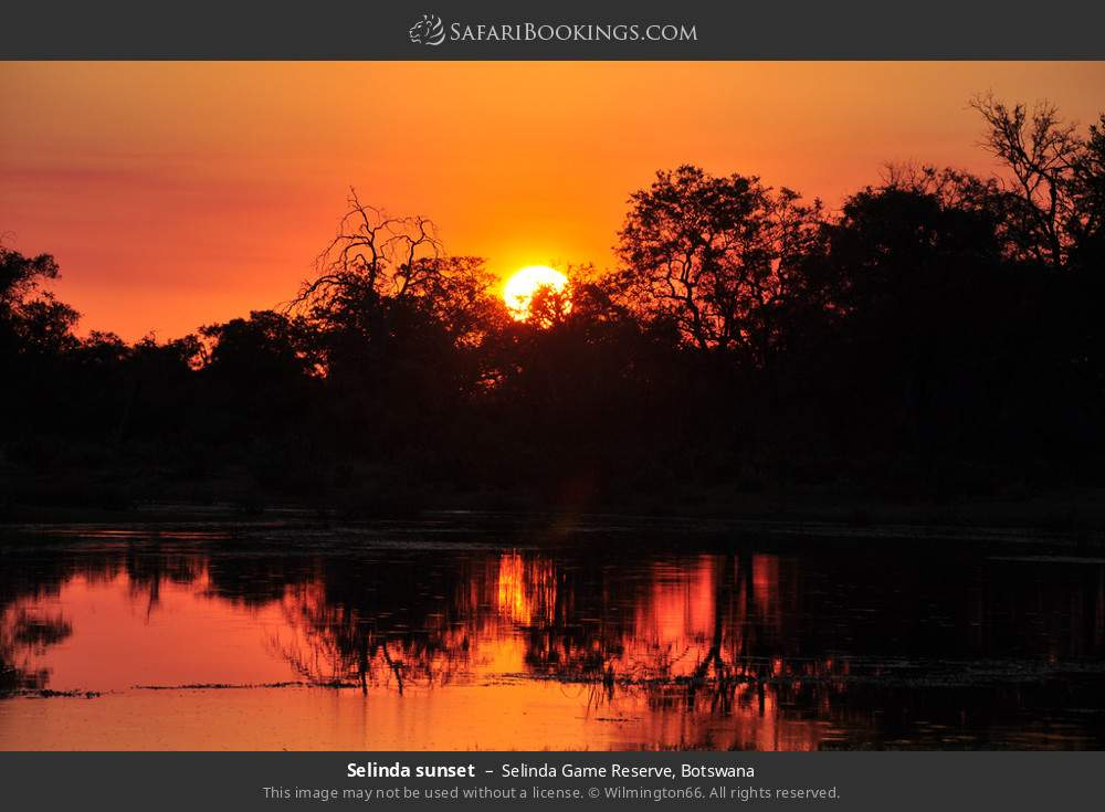 Selinda sunset in Selinda Game Reserve, Botswana