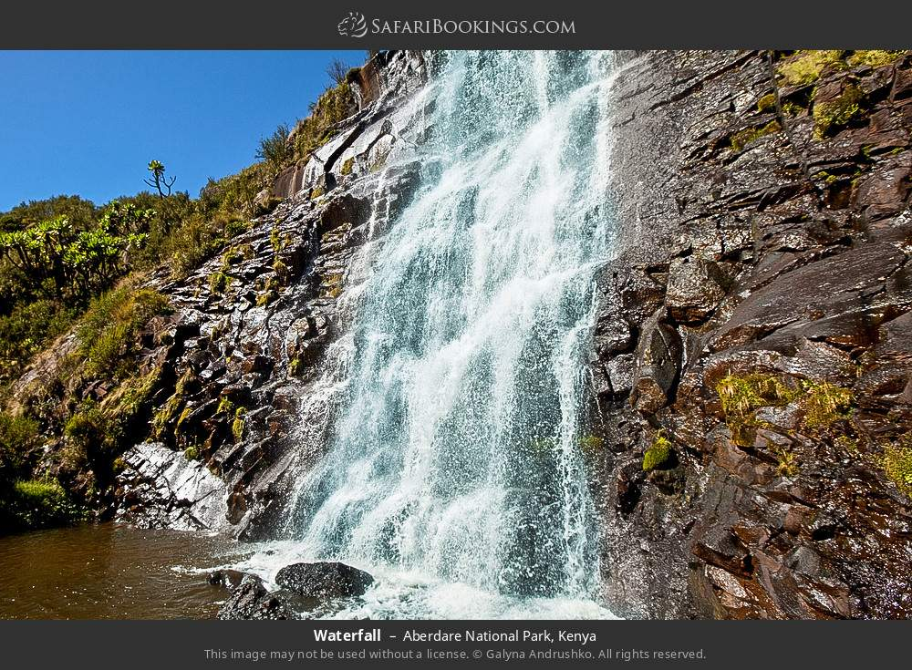 Waterfall in Aberdare National Park, Kenya