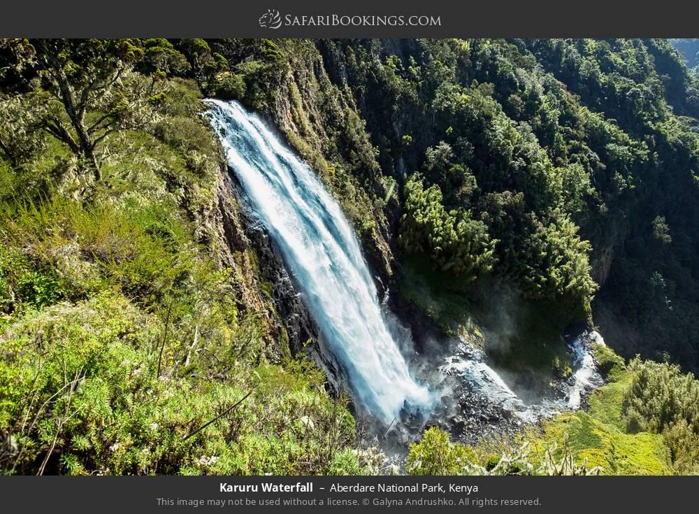 Waterfall Karuru in Aberdare National Park, Kenya
