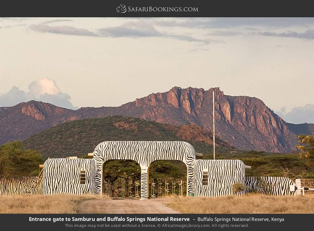 Entrance gate to Samburu and Buffalo Springs National Reserve in Buffalo Springs National Reserve, Kenya