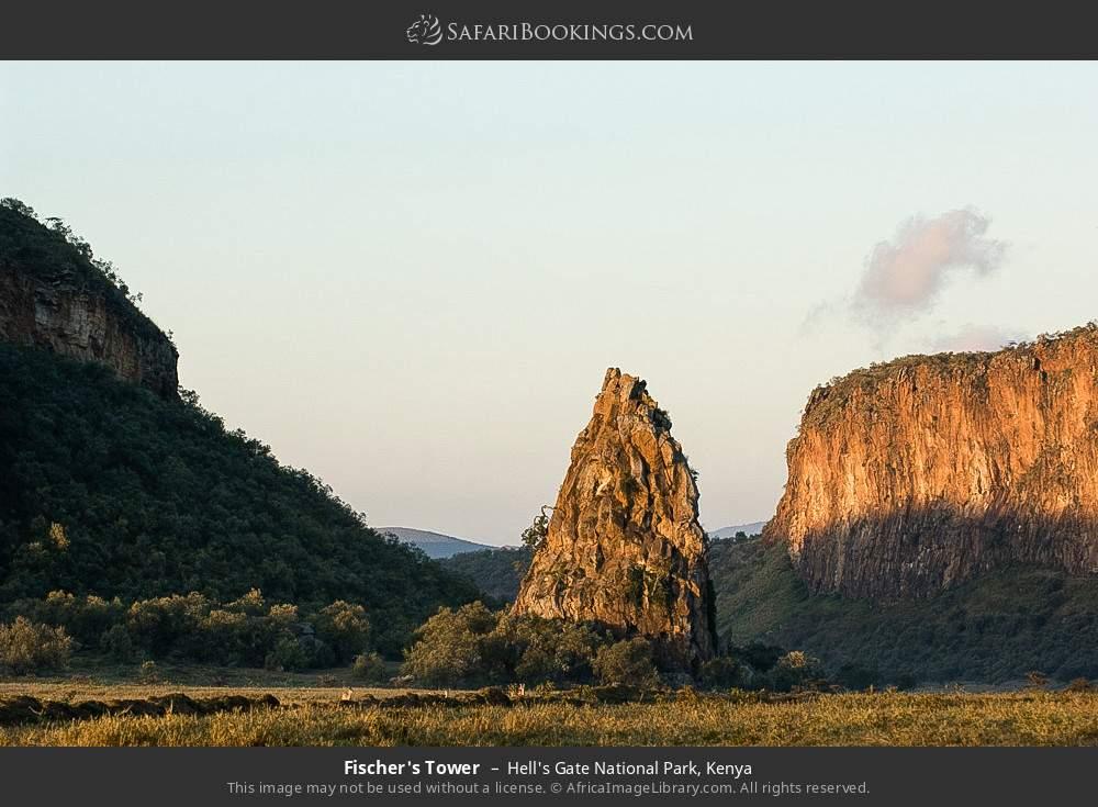 Fischer's Tower in Hell's Gate National Park, Kenya