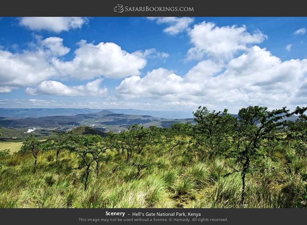 Scenery in Hell's Gate National Park, Kenya