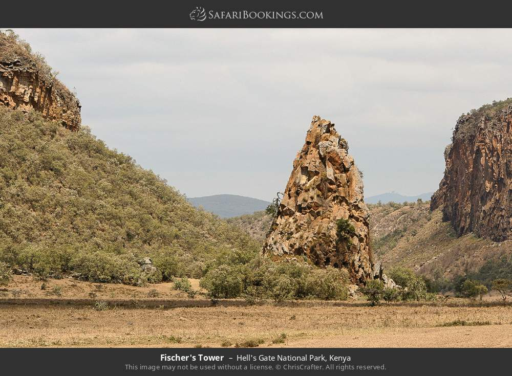 Fisher's tower in Hell's Gate National Park, Kenya