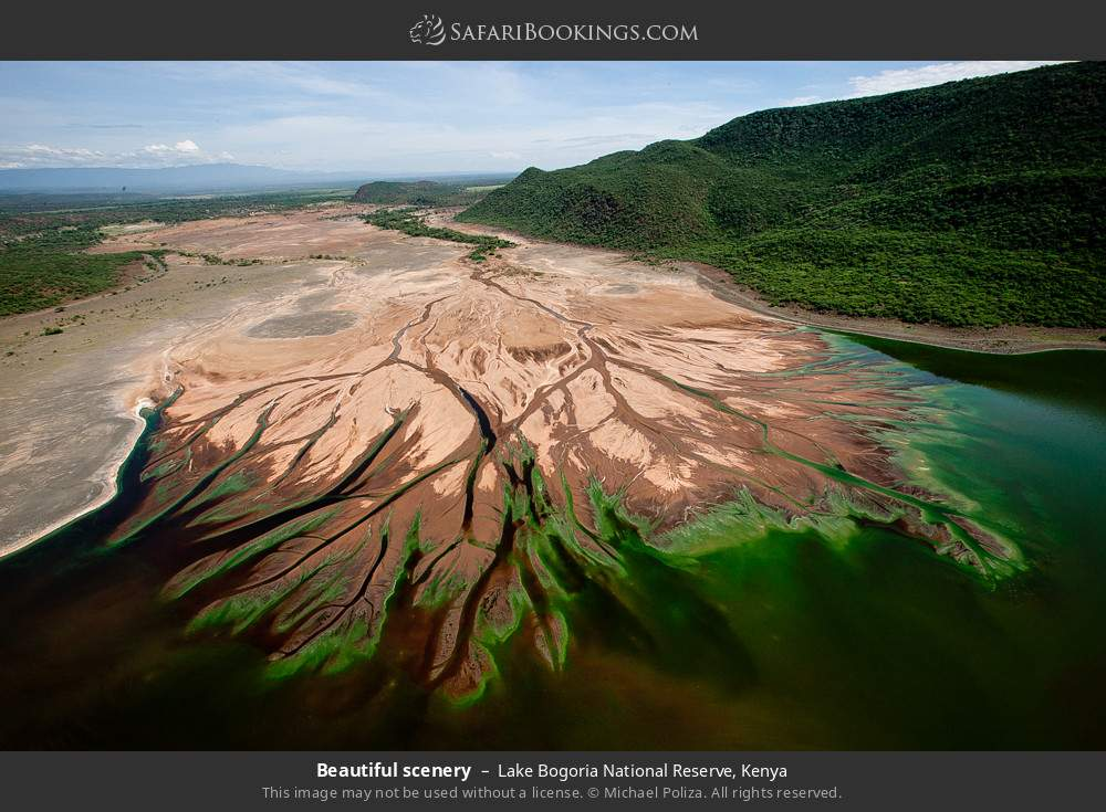 Beautiful scenery in Lake Bogoria National Reserve, Kenya