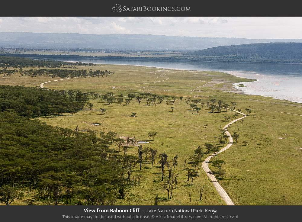 View from Baboon Cliff in Lake Nakuru National Park, Kenya