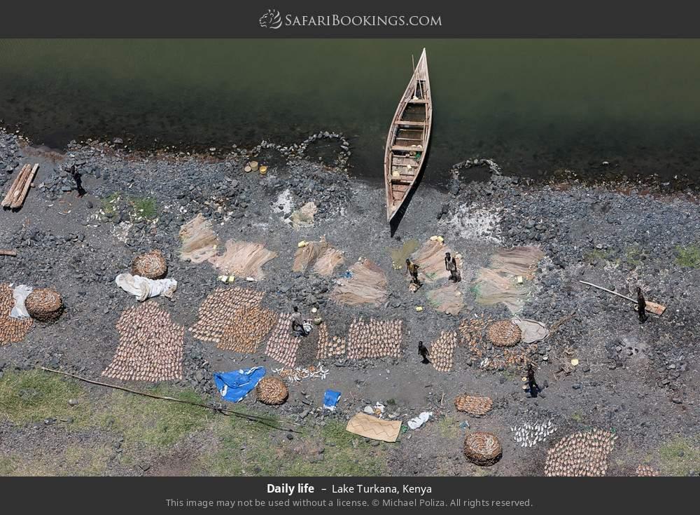 Daily life in Lake Turkana, Kenya