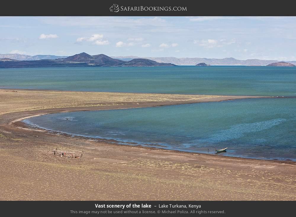 Vast scenery of the lake in Lake Turkana, Kenya
