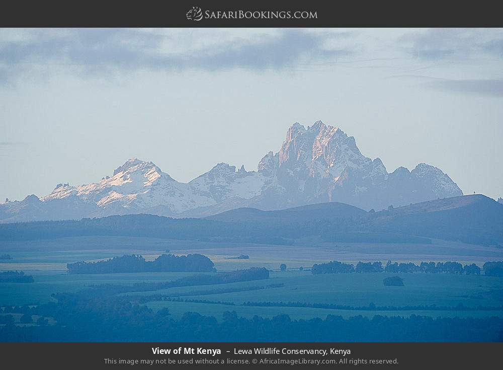 View of Mount Kenya in Lewa Wildlife Conservancy, Kenya
