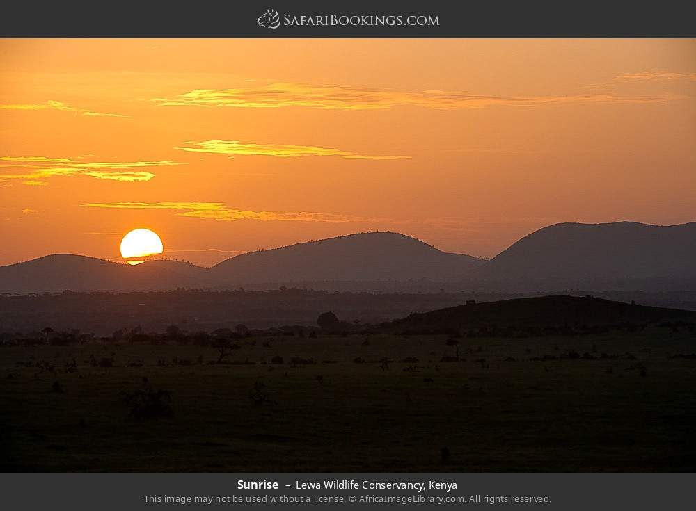 Sunrise in Lewa Wildlife Conservancy, Kenya