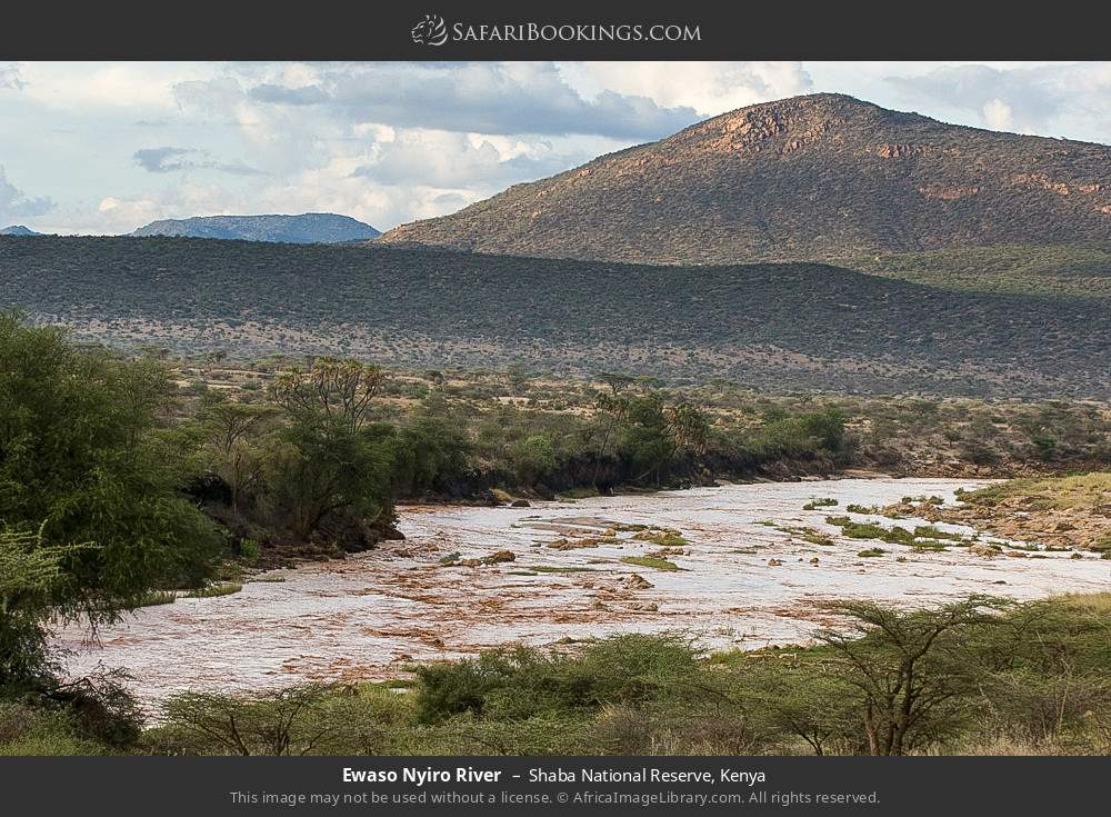 Ewaso Ngiro River in Shaba National Reserve, Kenya