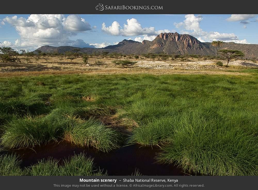 Mountain scenery in Shaba National Reserve, Kenya