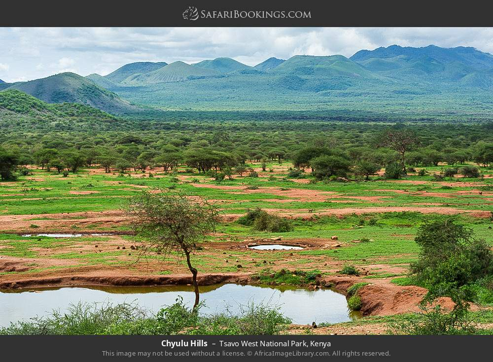 Chyulu hills in Tsavo West National Park, Kenya