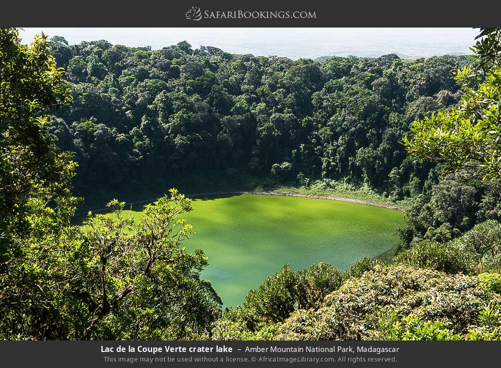 Lac de la Coupe Verte crater lake in Amber Mountain National Park, Madagascar
